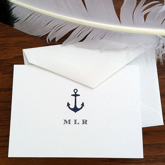 monogrammed stationery for men