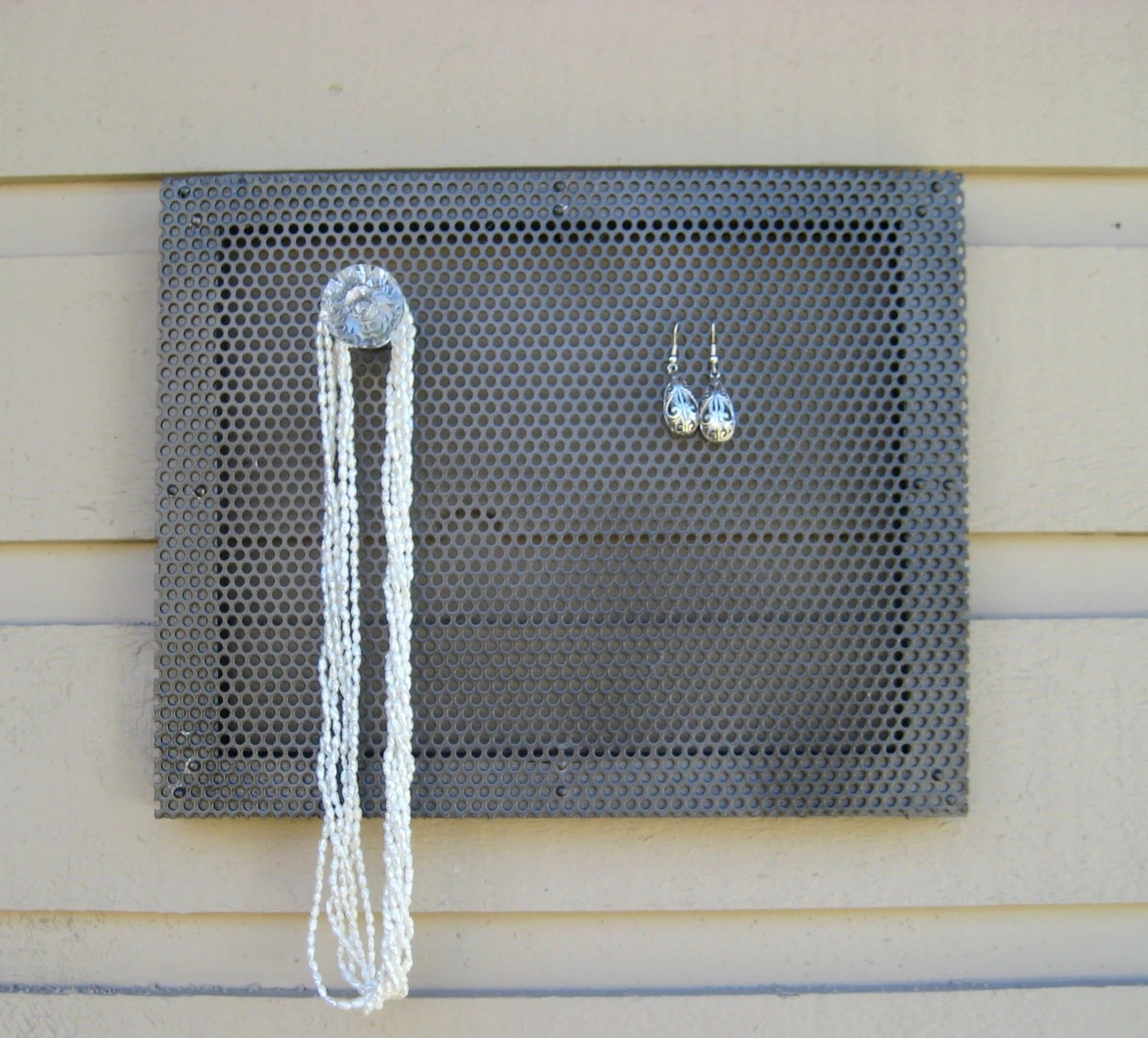 Magnetic Memo Board And Earring Holder Jewelry By