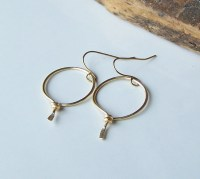 Metalwork Earrings Hoop Earrings Permanent Colored Wire