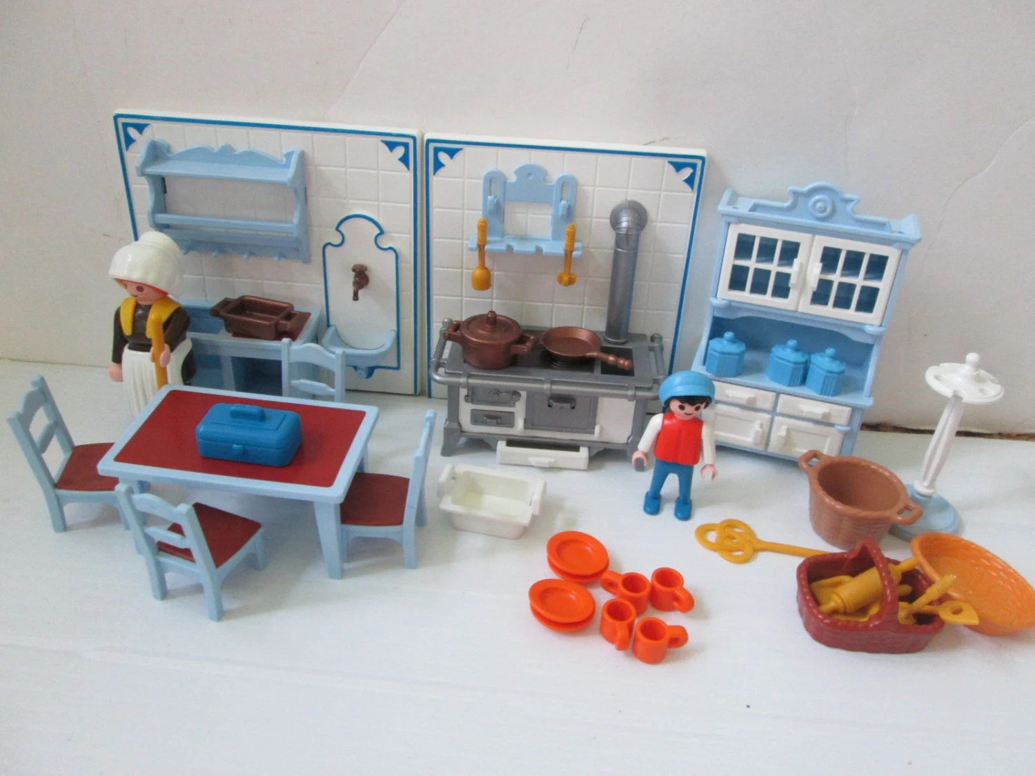 Cuisine Playmobil Set De Cuisine Playmobil Victorian Mansion Avec Maid Beaucoup