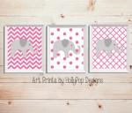 Pink Baby Girls Nursery Wall Decor
