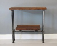 Reclaimed Wood Urban Console Table w/ Industrial Pipe by ...