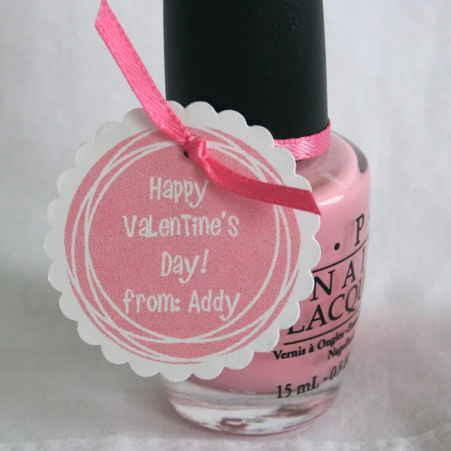 Valentine39s Day Tags For Nail Polish Or Other Small Gift