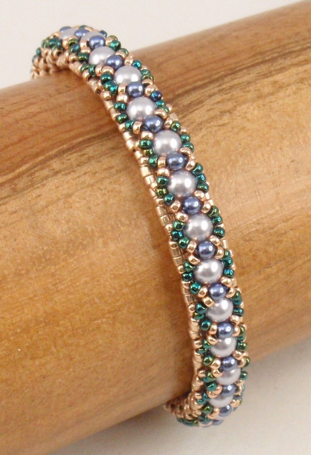 Beading Tutorial For Tea Time Bracelet Jewelry Pattern
