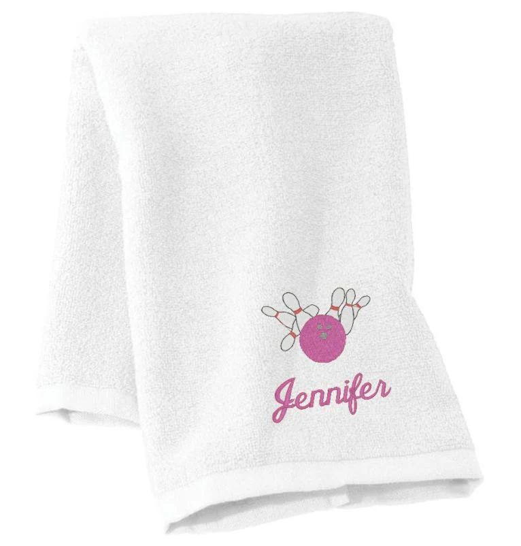 monogrammed bowling towels