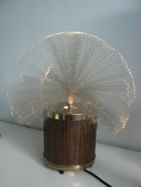 vintage 1970s fiber optic rotating lamp / space age lamp/