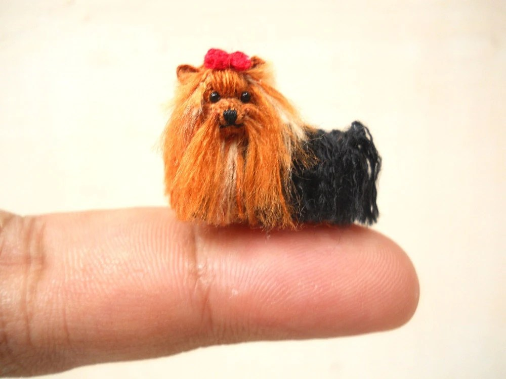 Chaussure Step Yorkshire Terrier Tiny Crochet Miniature Dog Stuffed Animals