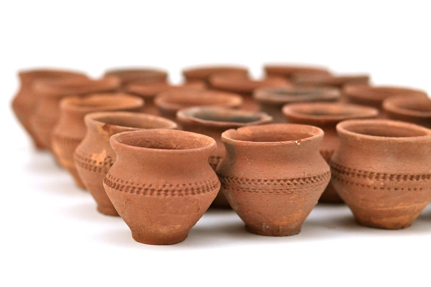 Mini Plant Pots Bulk Vintage Set Of 5 Terracotta Mexican Mini Pots Bud Flower
