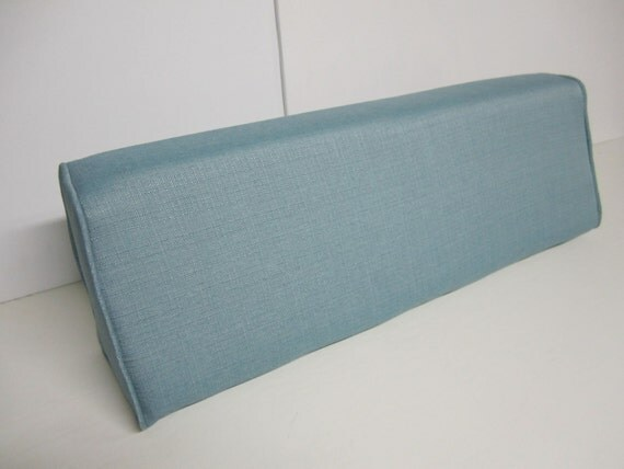 Daybed Wedge Bolster Foam And Cover Linen Turquoise