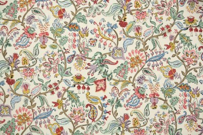 1900's Antique French Wallpaper French Floral Paisley