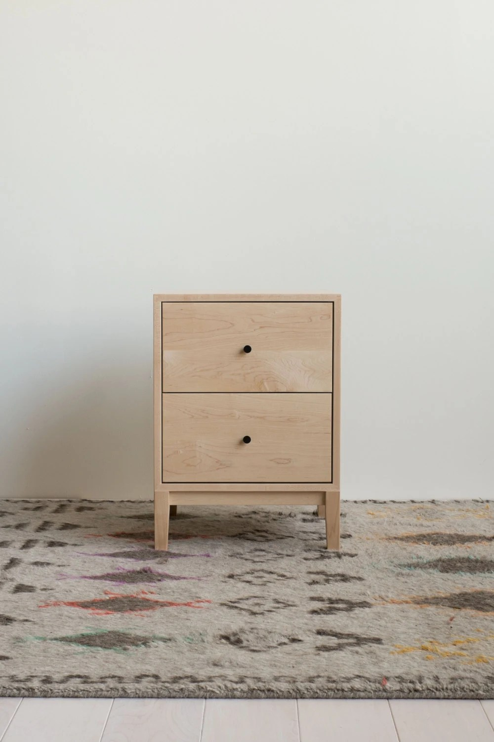 Berkeley Night Stand  Solid Maple Night Stand  Etsy finds