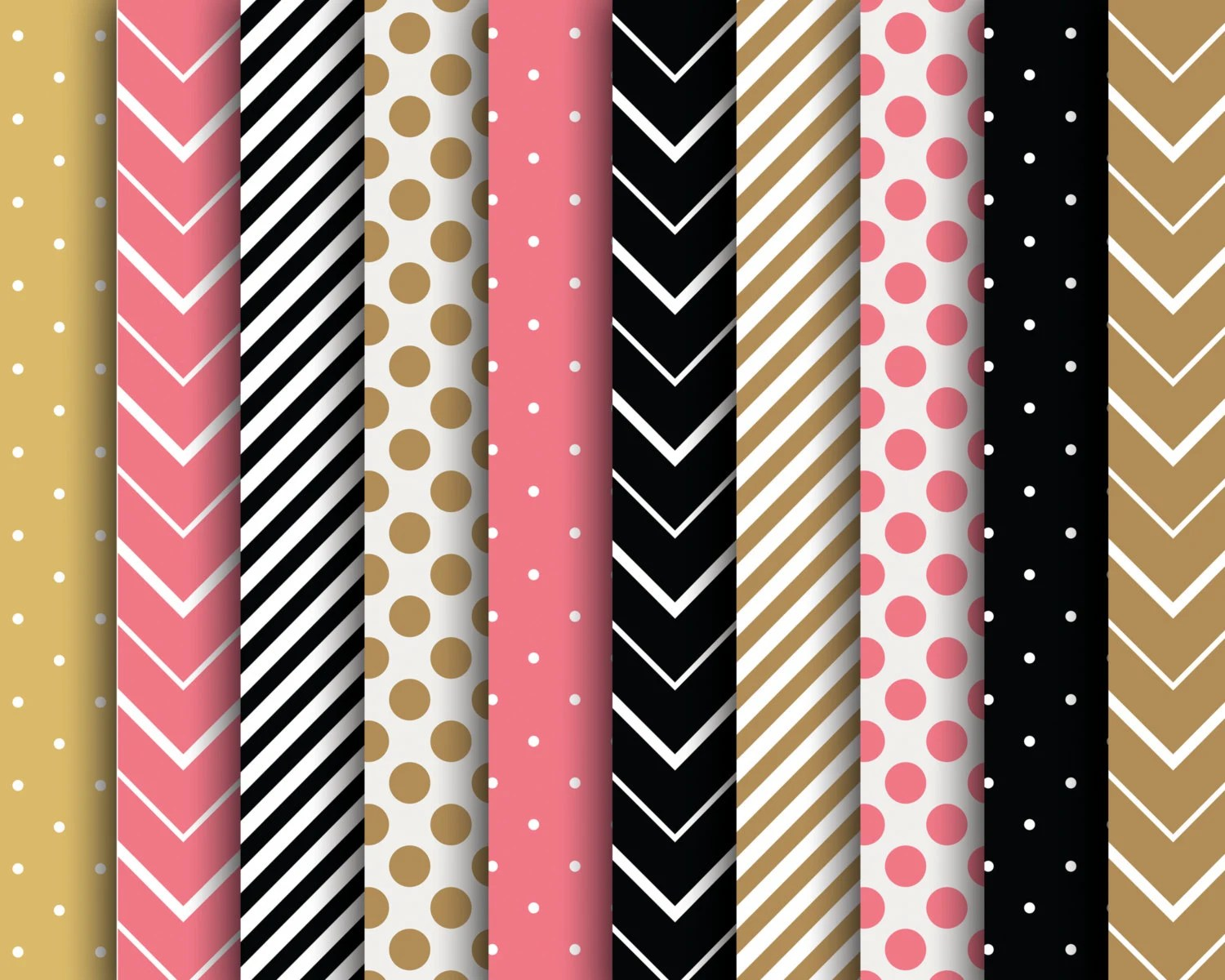 60 OFF SALE Digital Papers Scrapbooking Stripes Polka Dots Chevron - stripes with polka dots