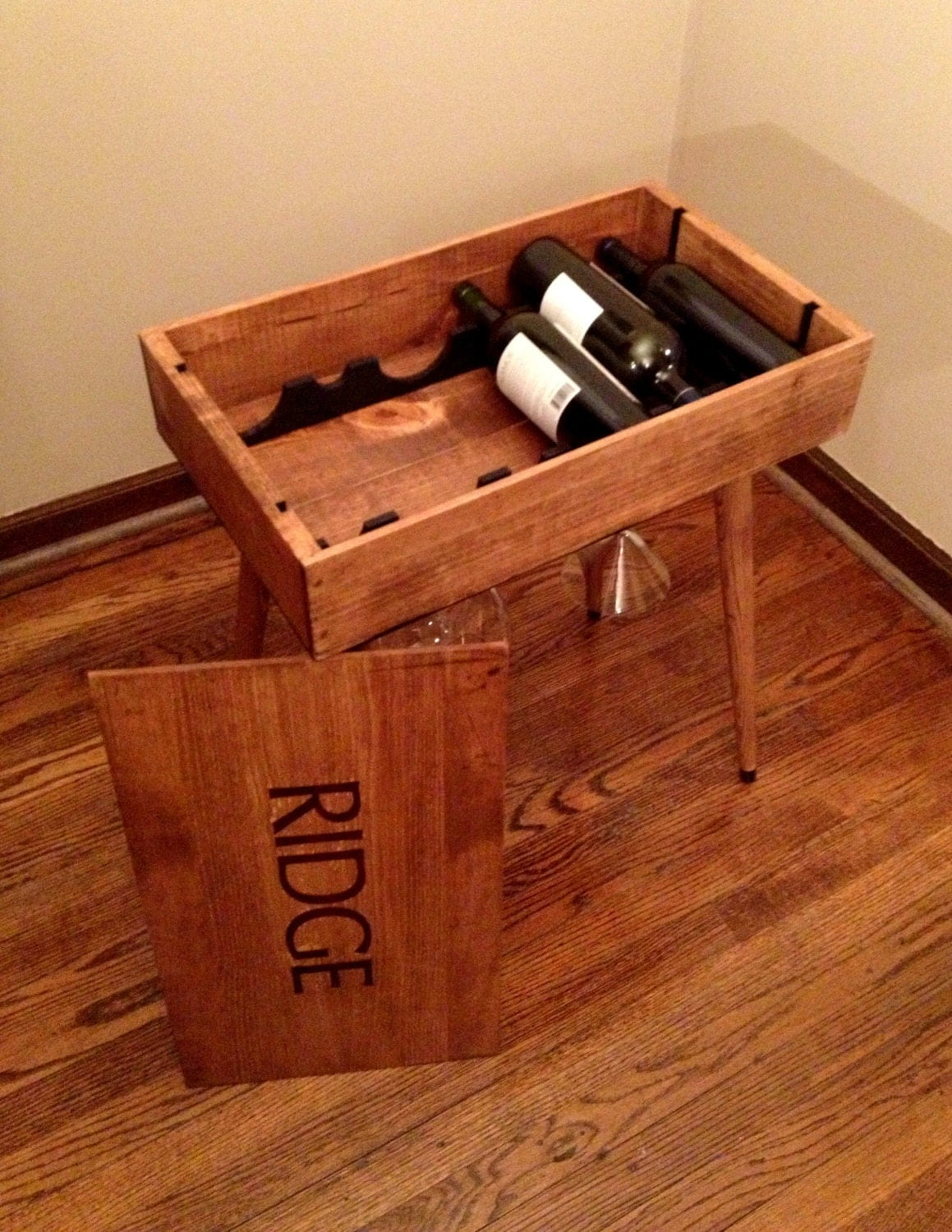 Box End Table Wine Box End Table Side Table Wine Storage