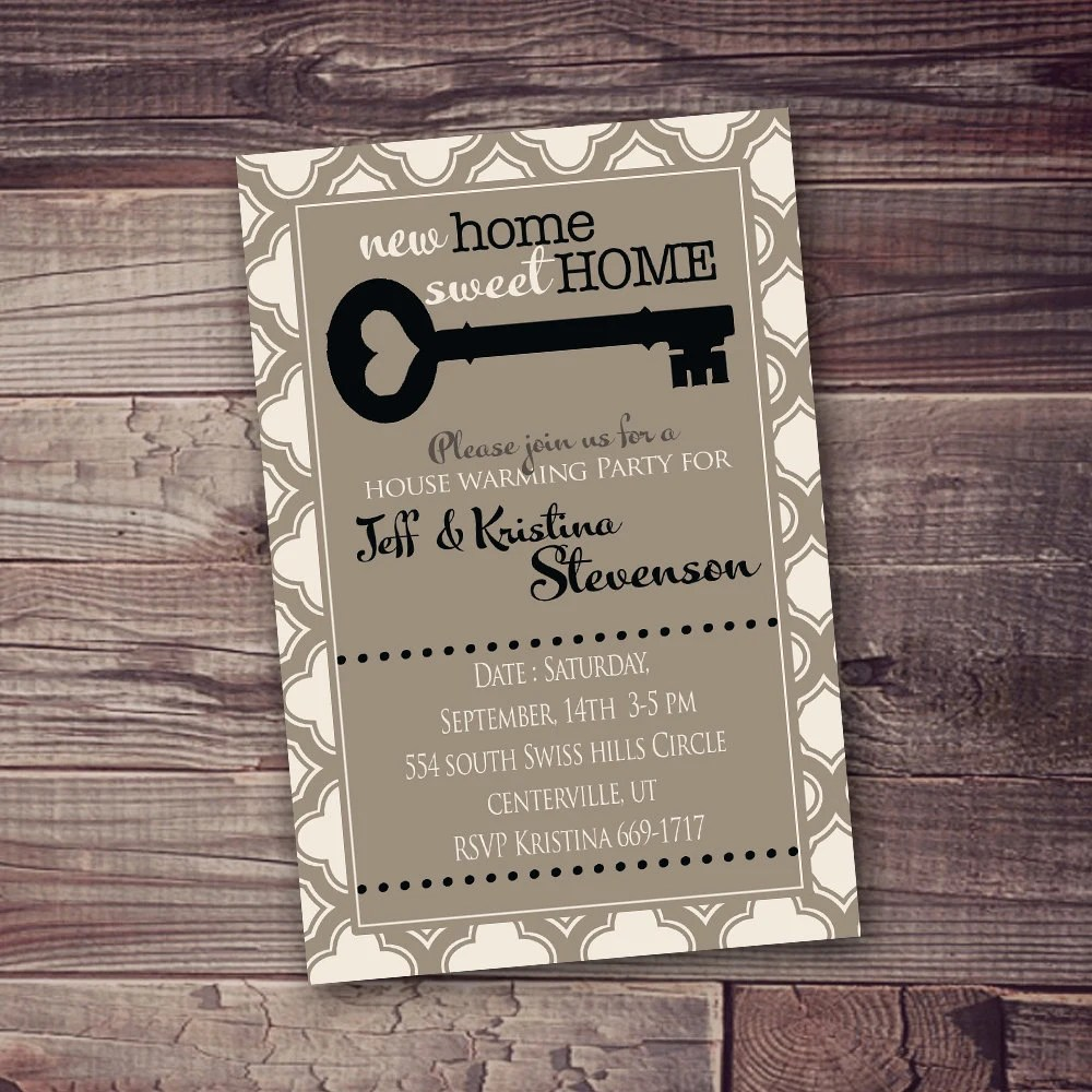 Any Occasion Digital Invitation Open House New Home