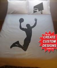 Basketball Duvet Cover Sheet Set Bedding Queen King Twin Size