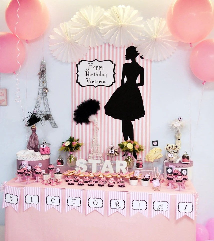 Fashion Doll Party Backdrop Design JPG file- PERSONALIZED Birthday - birthday party design