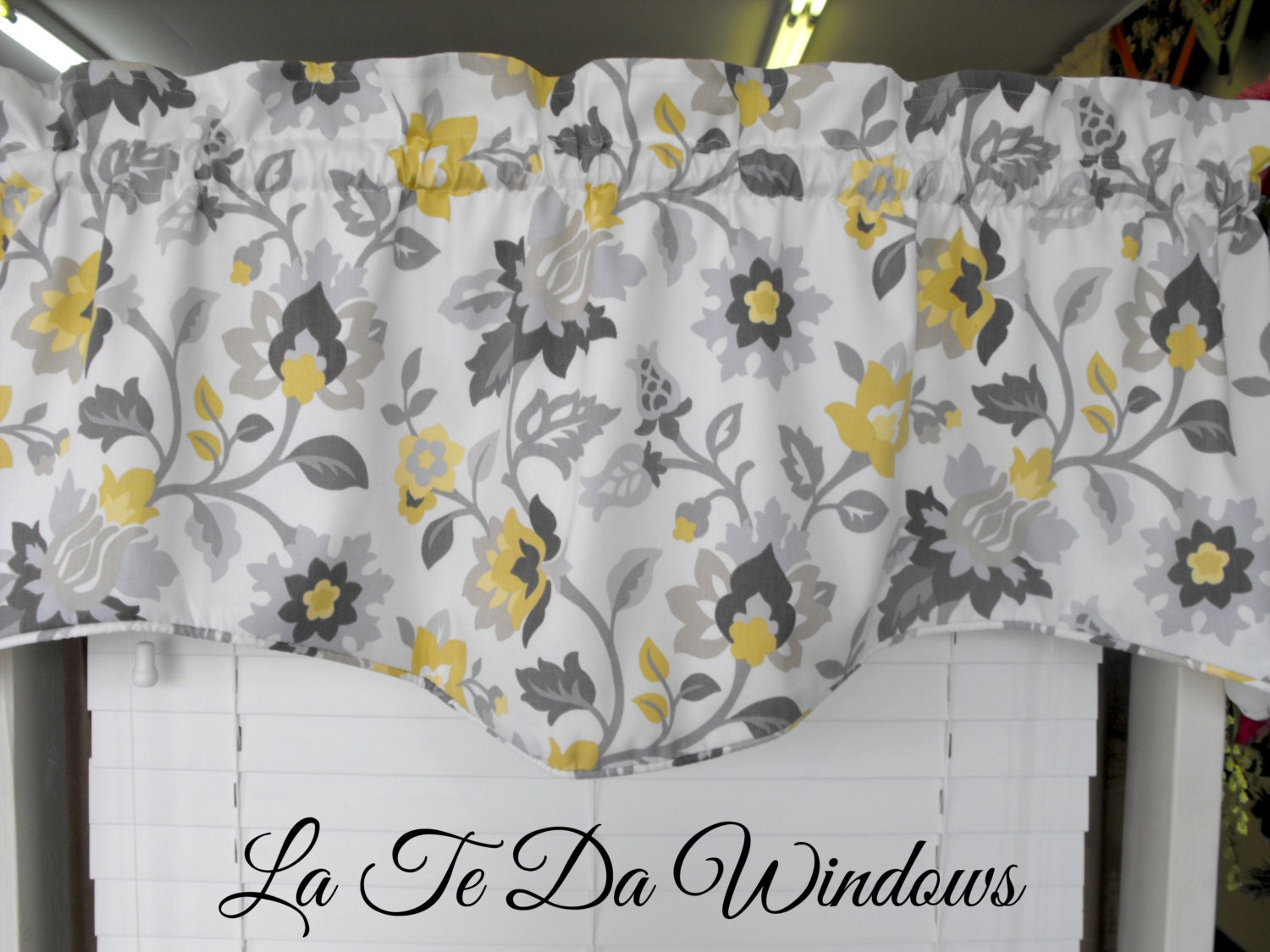 Kitchen Curtains For Yellow Walls Window Treatment Valance Gray Yellow Charcoal By Latedawindows