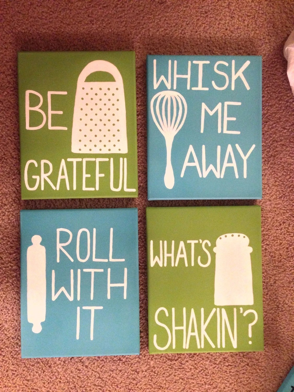 Cute Kitchen Wall Decor Custom Made Quote Canvases