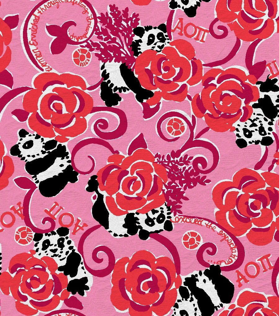 Fall Lilly Pulitzer Wallpaper 18 X 18 Or 1 Yard Lilly Pulitzer Sorority Fabric