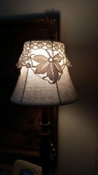 Vintage Lace Lamp Topper