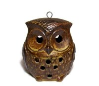 Vintage Owl Tealight Candle Holder Little Brown by ...