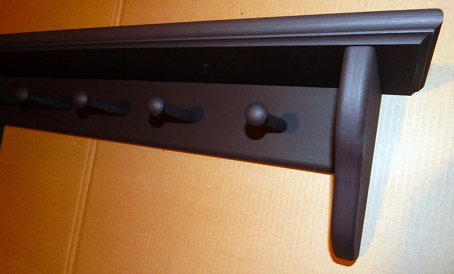 Coat Rack Wall Mounted Shelf Shaker Peg Shelf