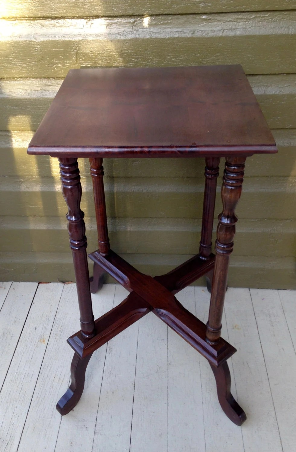 Vintage Antique Plant Stand Small Table Wooden Lamp Stand