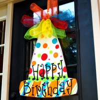 Happy Birthday Sign Birthday Door Decor Happy Birthday Door