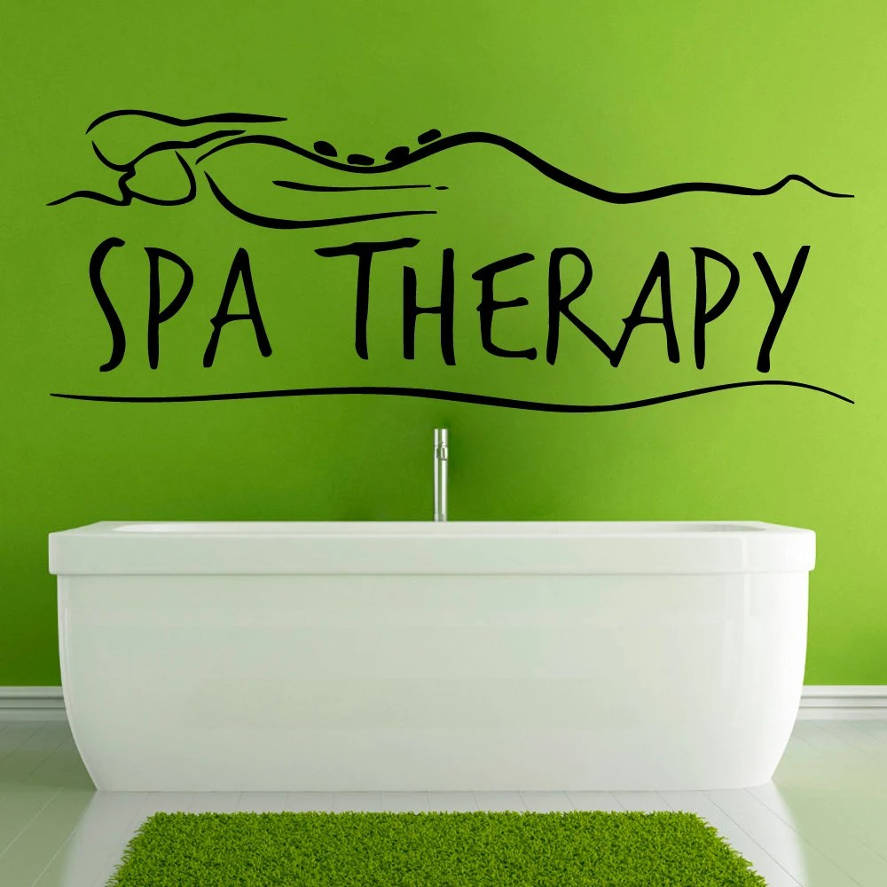 Spa Wall Decals Spa Therapy Words Spa Stones by