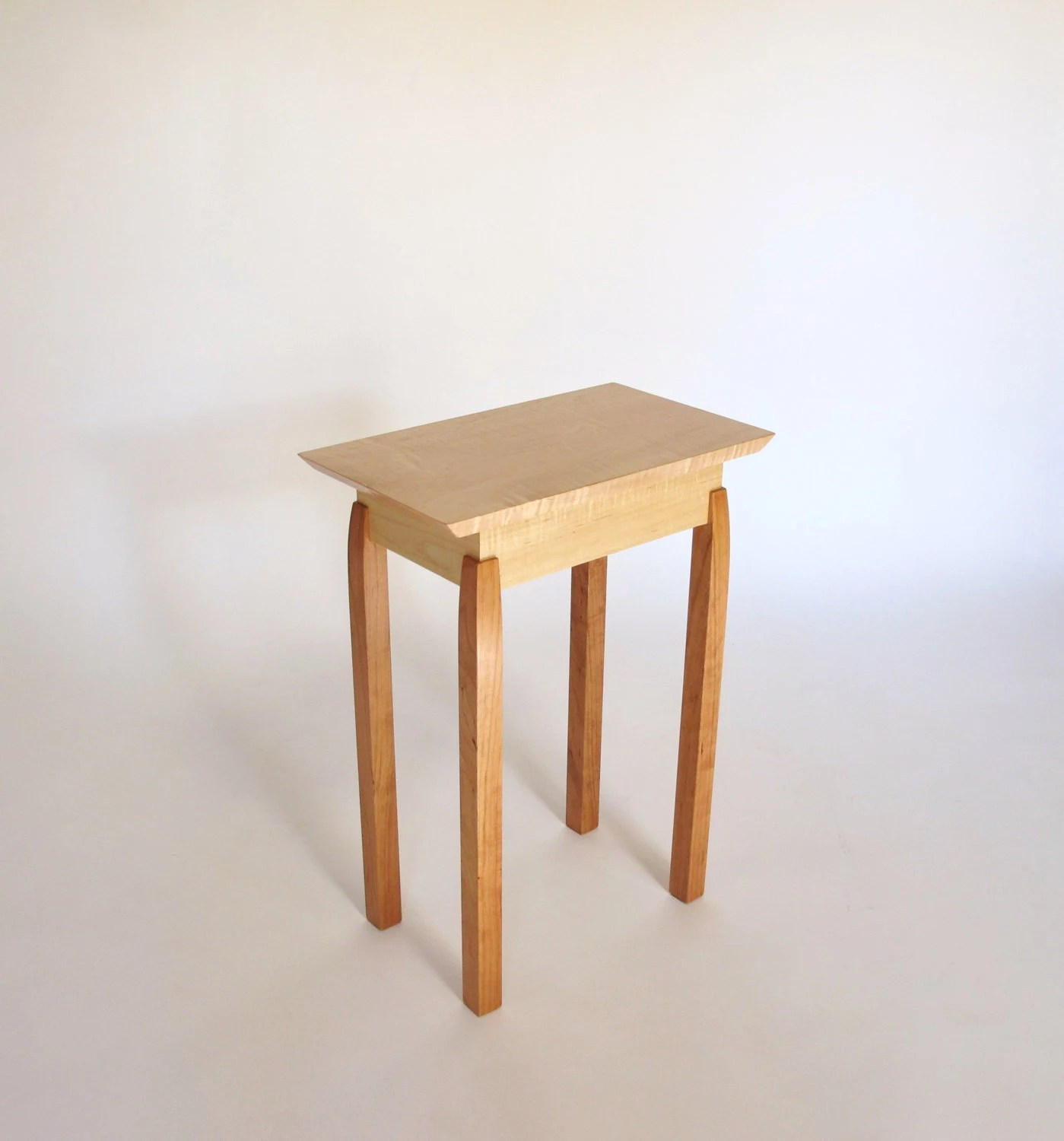 Small Narrow End Table Narrow End Table Tiger Maple And Cherry Accent Table Small End