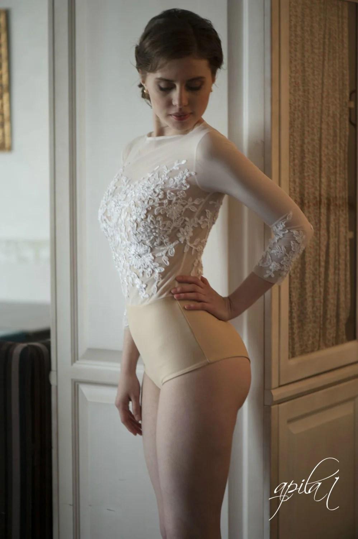 bodice l10 wedding bodysuit bridal top nude wedding dress zoom