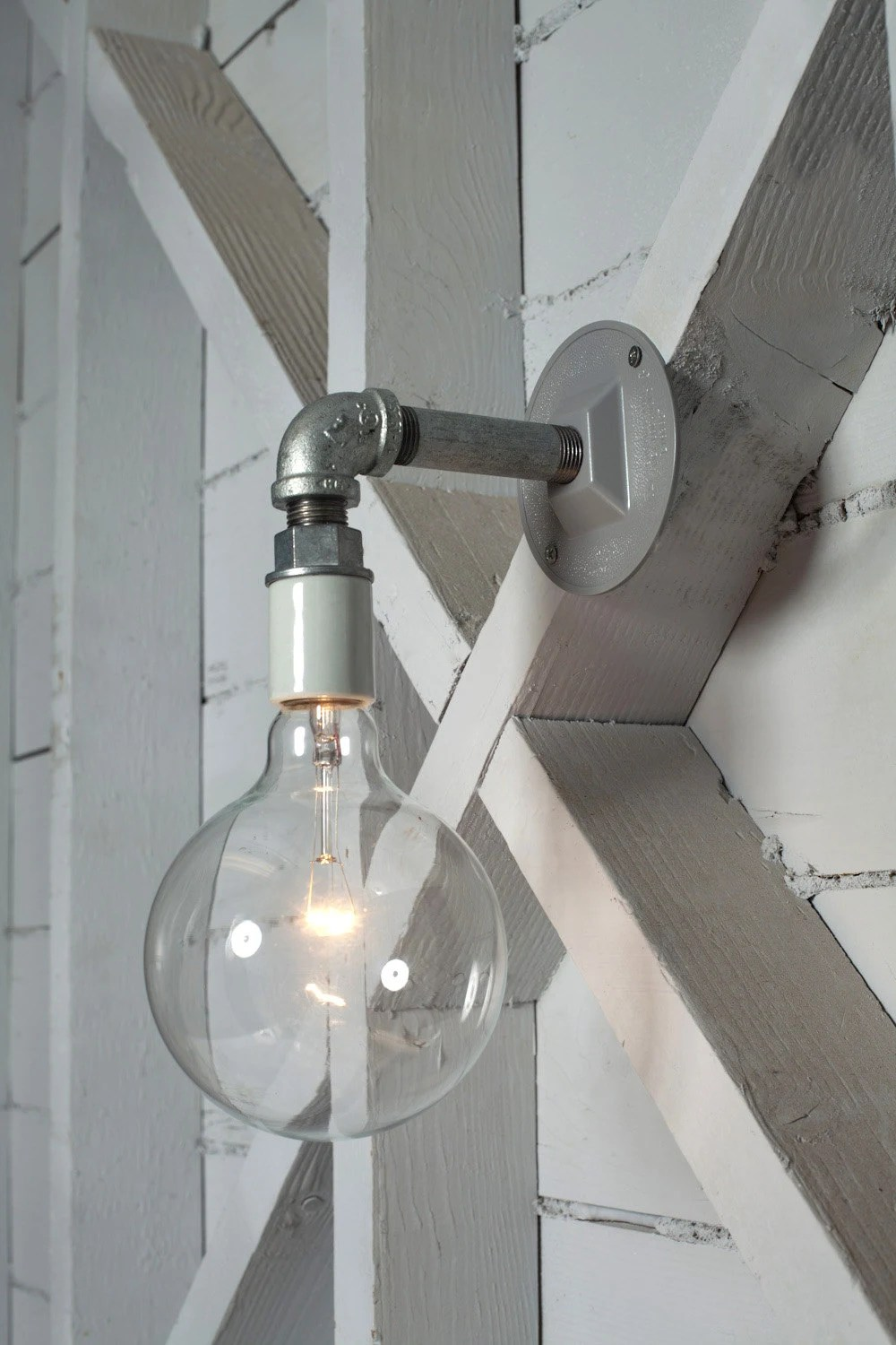 Wall Sconce Lights That Plug In Industrial Wall Sconce Light Bare Bulb Pipe Lamp