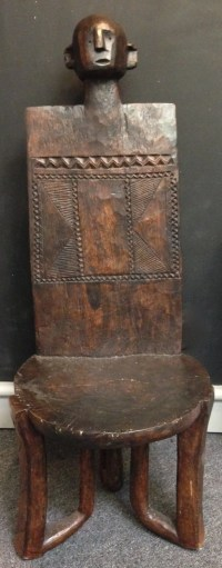 African Chair Tanzanian Carved Wood Male Chair Throne