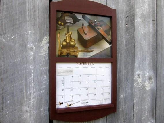 11 X 17 Handmade Wooden Calendar Holder In Barn