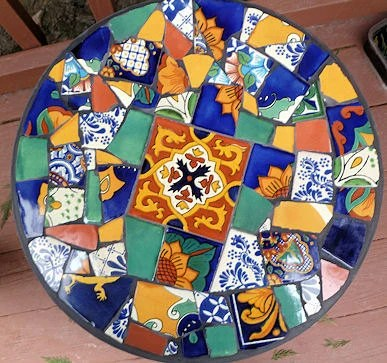 Items Similar To Mosaic Table Mexican Tiles Foldable 155