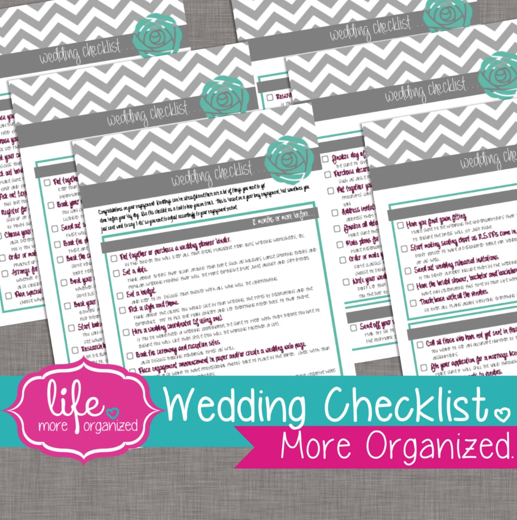 Printable Wedding Checklist Planner - printable wedding checklist