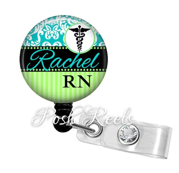 Retractable Badge Holder Personalized Name Badge Reel