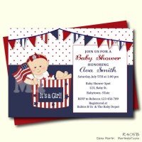 Patriotic Baby Shower Invitation 4th of July Baby Shower