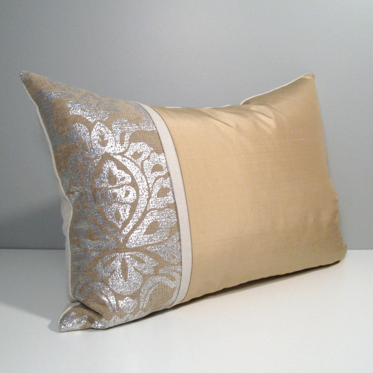 Gold Silver Pillow Cover Modern Pillow Cover Decorative