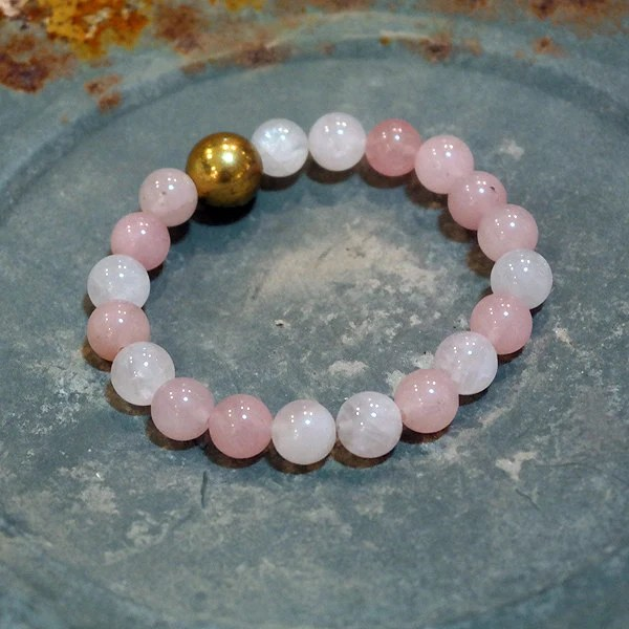 Rose Quartz Fertility Bracelet Energy Bead Bracelet