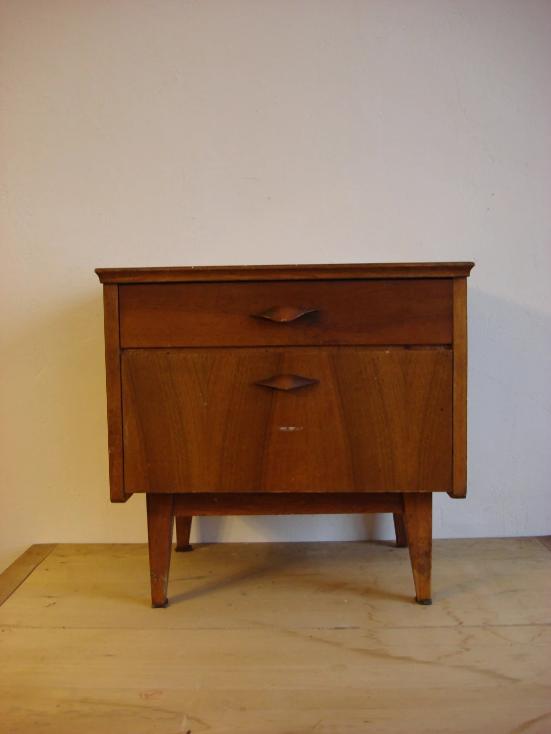 Danish Bedside Table Mid Century Modern Night Stand Danish Modern Teak