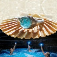The Real Mako Mermaid Ring Sterling Silver 925 FREE Shell