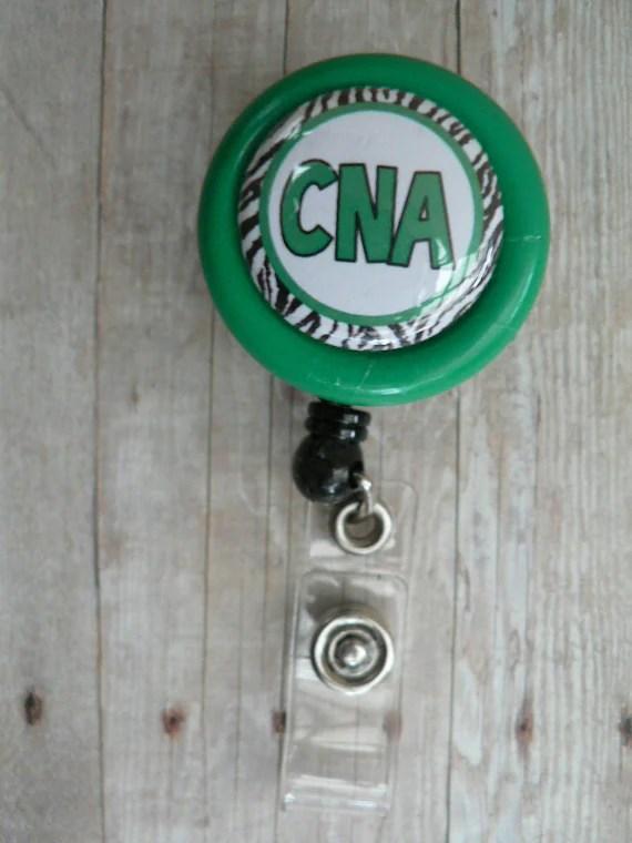 Badge Reel Retractable Slide Clip Cna Cna Gift White