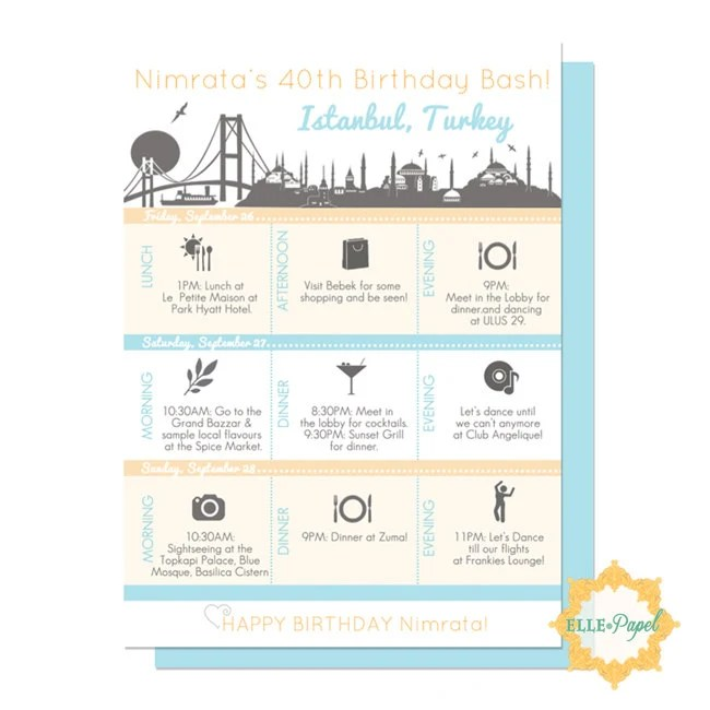 Magnificent Printable Itinerary Template Inspiration - Resume Ideas - birthday itinerary template