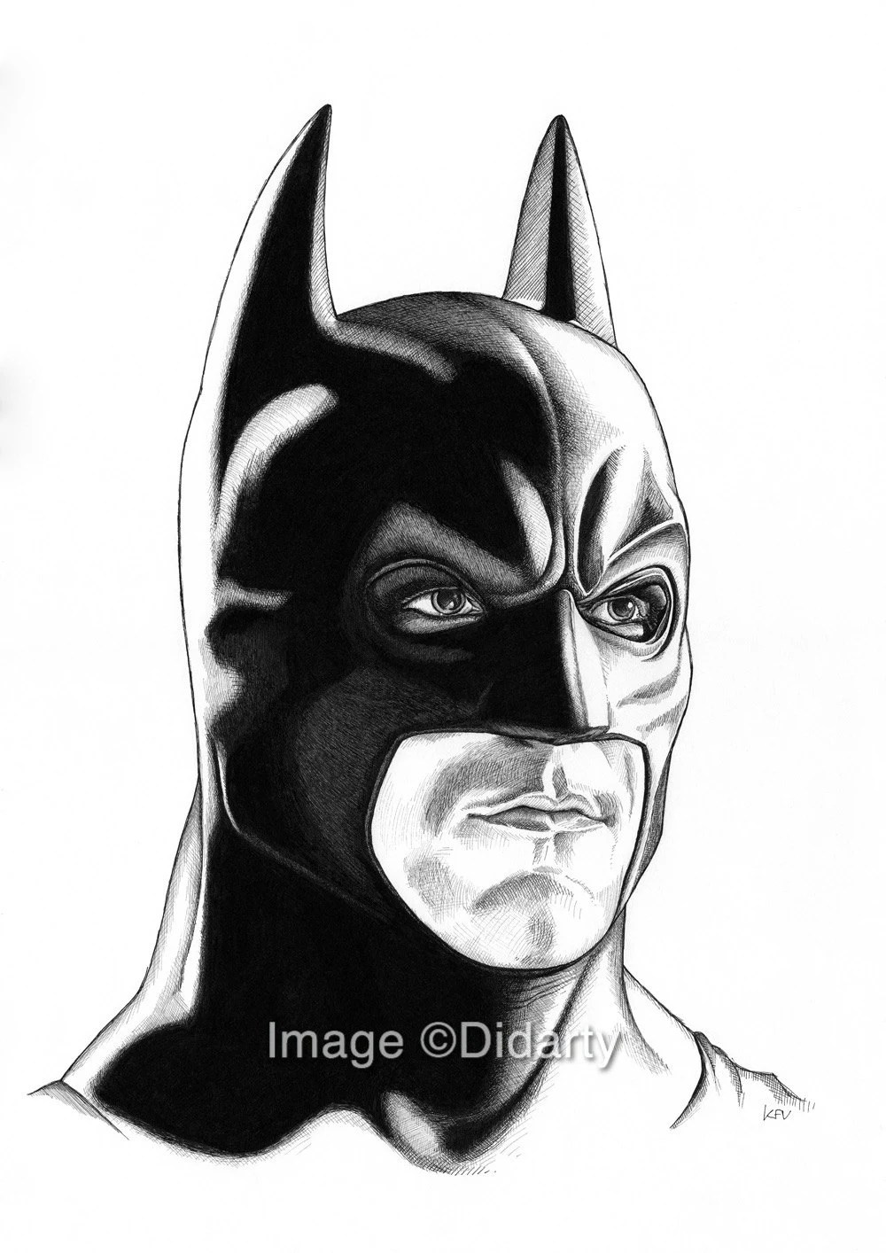 Christian Bale Iphone Wallpaper Batman Portrait Print