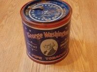 George washington great American pipe tobacco tin