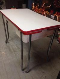 Enamel top table vintage kitchen table