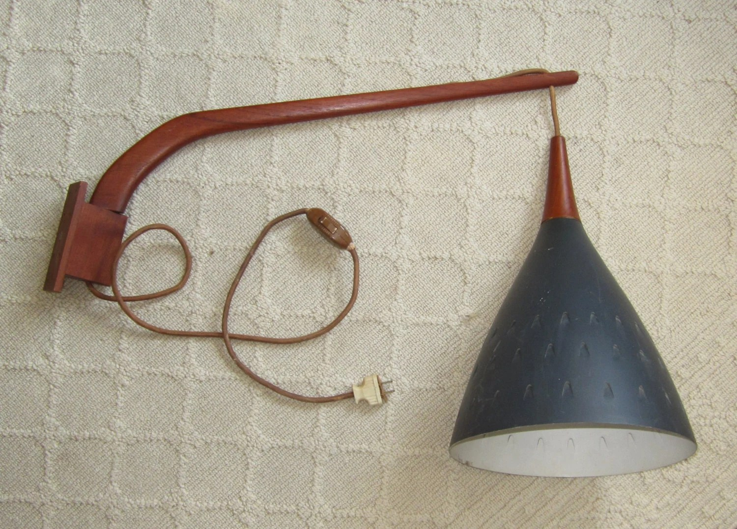 Mid Century Swing Arm Wall Lamp Mid Century Modern Danish Teak Swing Arm Wall Mount Pendant