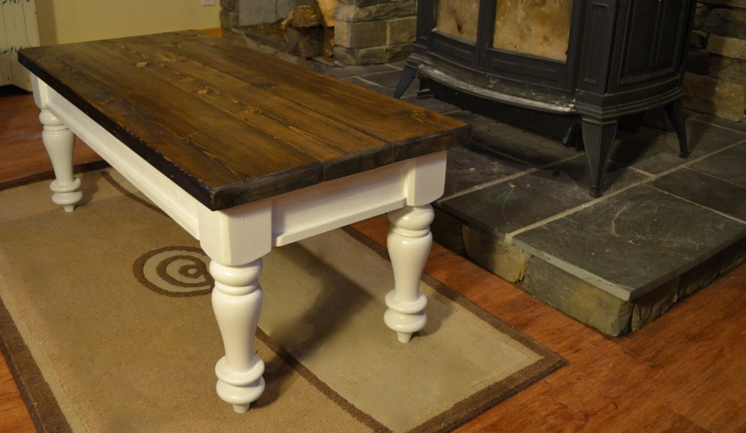 Farmhouse Coffee Table Etsy Farmhouse Coffee Table By Knotboards On Etsy