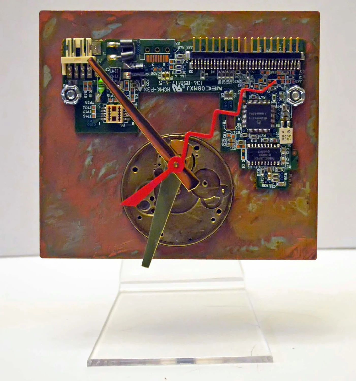 Circuit Board Clock Computer Steampunk Techi Recycled Copper Auto Old Boards Stock Images Image 13040664